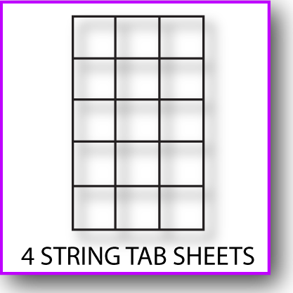 Printable 4-StringTab Sheet