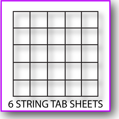 Printable 6-String Tab Sheet