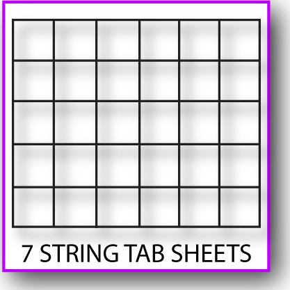 Printable 7-String Tab Sheet